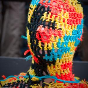 Wearable Sculptures: 100% Acrylic Art Guards by Agata Olek / Dum